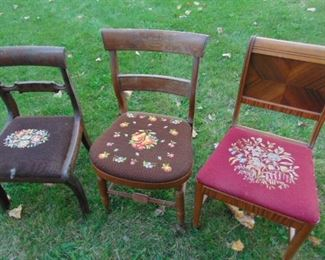 Tapestry chairs