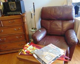 Recliner with game table.