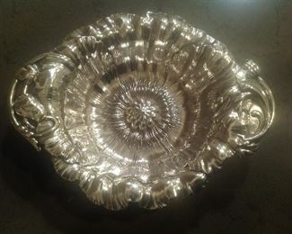 Inside of nut dish.  Excellent condition!