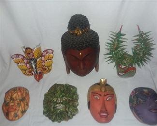 Price Cut - $10 -ea. - Wood, Paper Mache, Ceramic masks