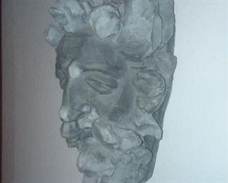 Price Cut - $20 - cast stone head. 8x8x14