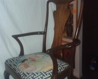 Price Cut - $75 - Needlepoint Cherry Side chair