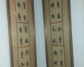 $50 for pair - Oriental Prints 12x34 each