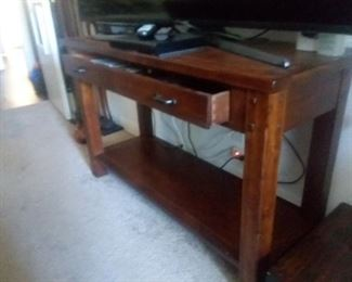 Price Cut - $75 - Sideboard or TV table with drawer. 48x18x30