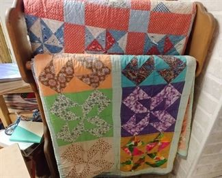 Quilts and quilt Rack