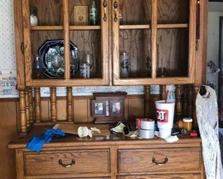 Nice Oak China Cabinet