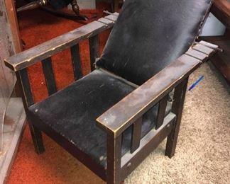 Antique Stickley Child's Recliner Chair