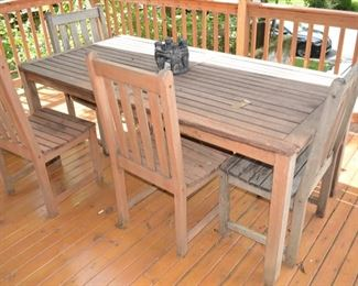 Teak patio Table and Chairs Set, Outdoor