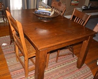 Kitchen Table and Chairs, Rustic