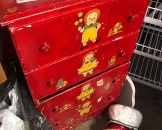 Painted 1940's Child's Chest of Drawers