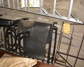 Wrought Iron Lounger, Aluminum Ladder