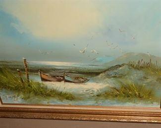 Original Oil Painting, Framed