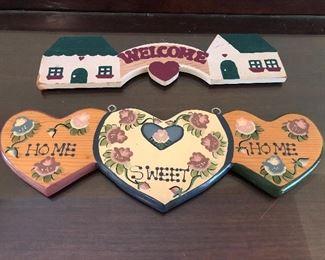 Wood Welcome Wall Hangers