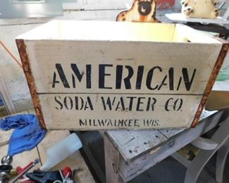 American Soda Water co Milwaukee crate