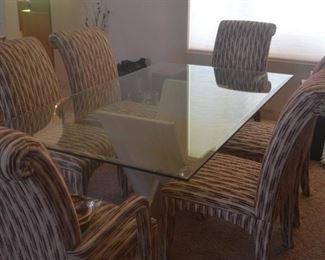 Formal Dining Set with 6 Chairs