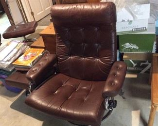 Ekornes mid century chair with ottoman