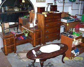 Deco vanity, dresser, coffee table, drop leaf table, etc...