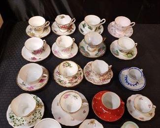 Fine porcelain teacups