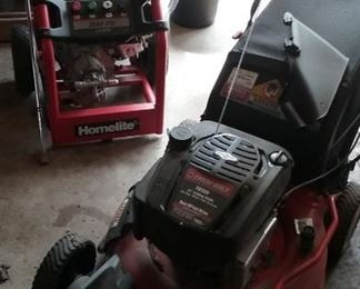 Power Washer & Lawn Mower