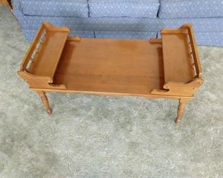 Cute coffee table with a side table that matches.