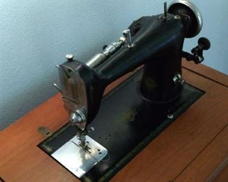 Top view of sewing machine