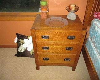 Mission style nightstand