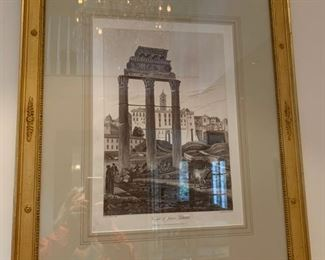 FRAMED ANTIQUE PRINT $250