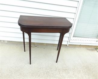 Antique Solid Mahogany Wood Grand Rapids Furniture Folding Side Table