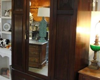 "Antique Armoire 49"" wide x 19"" deep  $174.99"