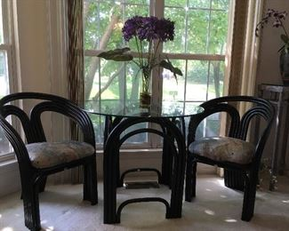Glass top table and chairs by Indra - Pier 1 Imports