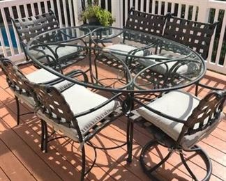 Brown Jordan Patio Table and Six Chairs