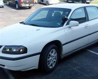 2003 Chevrolet Impala Passenger Car, 96,655 Miles, VIN # 2G1WF55K239303798