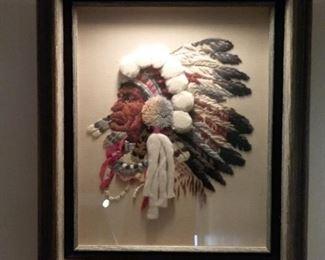Framed Three Dimensional Native American Piece