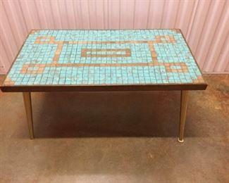 Midcentury Mosaic Tile Coffee Table https://ctbids.com/#!/description/share/235686