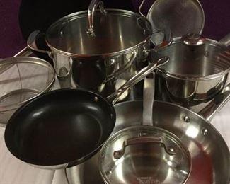 Stainless Steel Cookware including Calphalon, Dansk, & Farberware https://ctbids.com/#!/description/share/235694