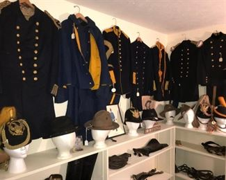 Indian War Period Unforms, Helments, Frocks, Jackets, Campaign Hats, Boots, etc.