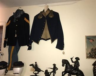 Indian War Period Buffalo Soldier Outfit and Civil War Shell Jacket