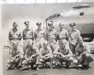 WWII Veteran Chief Master Sergeant Walter D. Minnick, Jr, Air Force B-29 Tailgunner, pictured front row, far right.