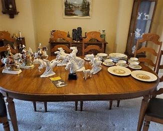 Karl Ens, Meisen, Sitzendorf, Hutschenreuther, Wallendorf Porcelain Horses, Blanc de Chine, Bohemian Czech Glass,