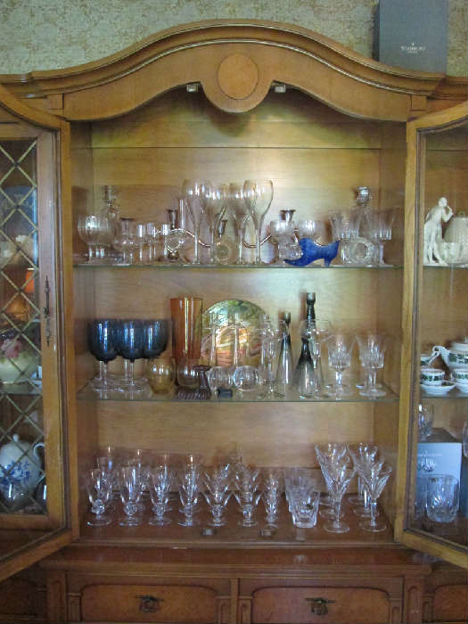 Baccarat, Waterford, and Swedish crystal