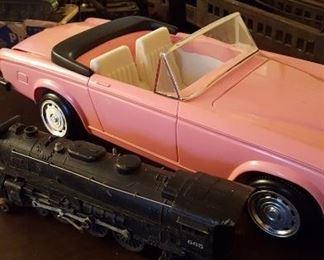 Toy Jaguar and trains
