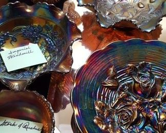 Amethyst carnival glass