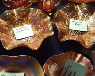 Marigold carnival glass