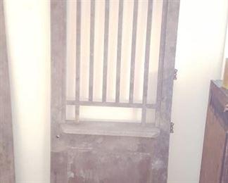 Antique wooden bank/post office door