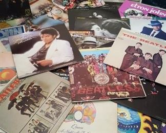 Some of the many LP's