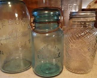 Rare jars: Mason's, Climax, Jumbo peanut butter