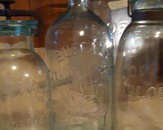 Rare jars: Buffalo mineral water, Globe