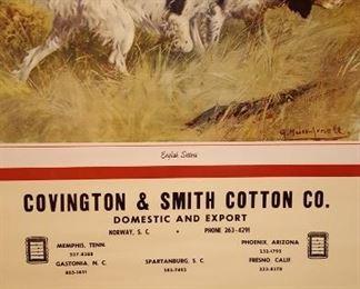 1967 Covington & Smith Cotton Co. calendar