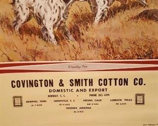 1963 Covington & Smith Cotton Co. calendar