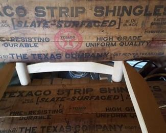 Wooden Texaco shingles sign